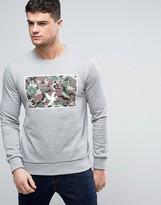Devote Sweatshirt In Gray With Camo Logo