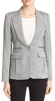 Smythe Women's Tweed Pleat Pocket Blazer