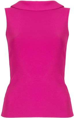 Valentino Pre Owned Ruffled Detail Open-Back Top