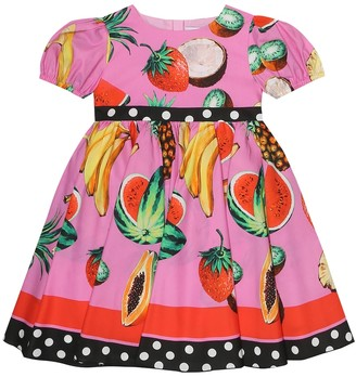 Dolce & Gabbana Baby printed cotton dress and bloomers set