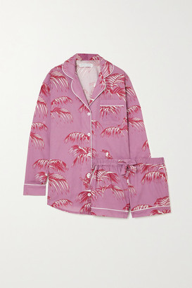 Desmond & Dempsey Bocas Printed Organic Cotton Pajama Set - Pink