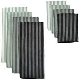 Nobrand No Brand Stripe Microfiber Towel and Cloth Set - Grey