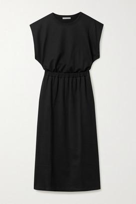Ninety Percent Organic Cotton-jersey Midi Dress - Black