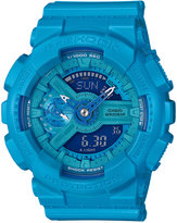 G-Shock Women's Analog-Digital S-Series Blue Resin Strap Watch 46x49mm GMAS110VC-2A