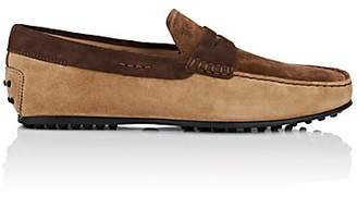 Tod's MEN'S SUEDE PENNY DRIVERS