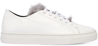 Zcd Montreal 20mm Niki Leather & Mink Sneakers