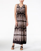 Style&Co. Style & Co. Petite Printed V-Neck Maxi Dress, Only at Macy's