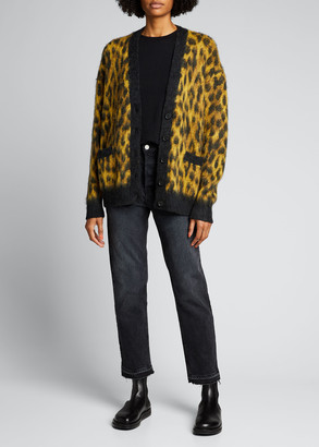 RE/DONE Oversized Cardigan in Cheetah