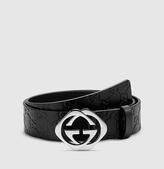Gucci belt with square interlocking G buckle