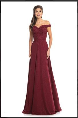 Johnathan Kayne Classic Burgundy Gown