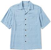 Caribbean Short-Sleeve Solid Woven Shirt