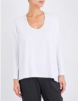 The White Company Assymetric stretch-jersey top