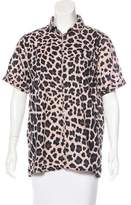 Marc by Marc Jacobs Leopard Print Button-Up Top