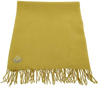 Christian Dior Yellow Wool Scarves