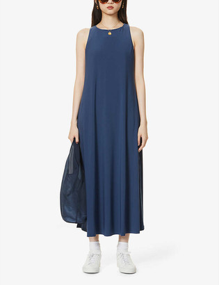 Max Mara Fischio round neck stretch-knitted midi dress