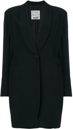 Moschino Pre Owned Shawl Lapel Coat