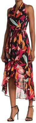 Julia Jordan Printed High/Low Sleeveless Dress