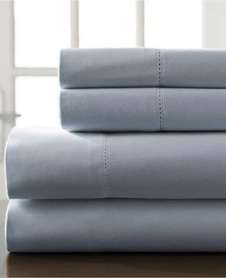 Hemstitch Cotton 400 Thread Count 5-Pc. Split King Sheet Set Bedding