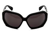 Angled Sunglasses: Black