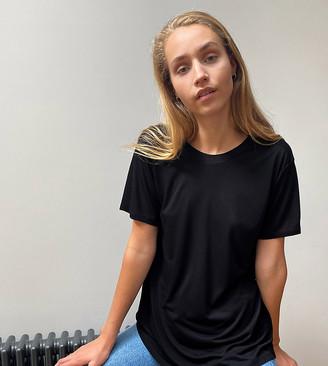 Asos Tall ASOS DESIGN Tall open back t-shirt in black