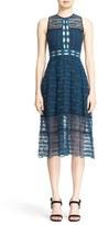 Jonathan Simkhai Mixed Embroidery Midi Dress