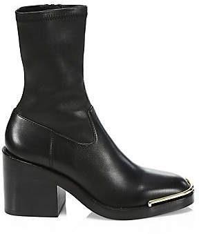 Alexander Wang Women's Hailey Stretch-Leather Ankle Boots