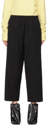 MM6 MAISON MARGIELA Black Flannel Pull-On Trousers