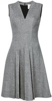 Carolina Herrera pleated front flared dress