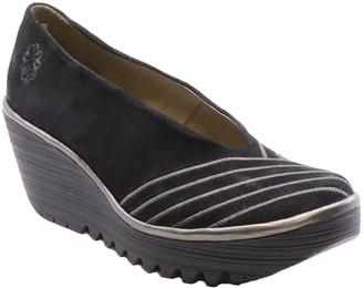 Fly London Yaku Leather Wedge Sandal
