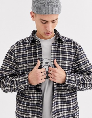 Weekday Chris quilted overshirt in gray
