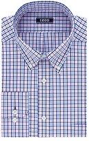 Izod Men's Regular Fit Tattersall Buttondown Collar Dress Shirt