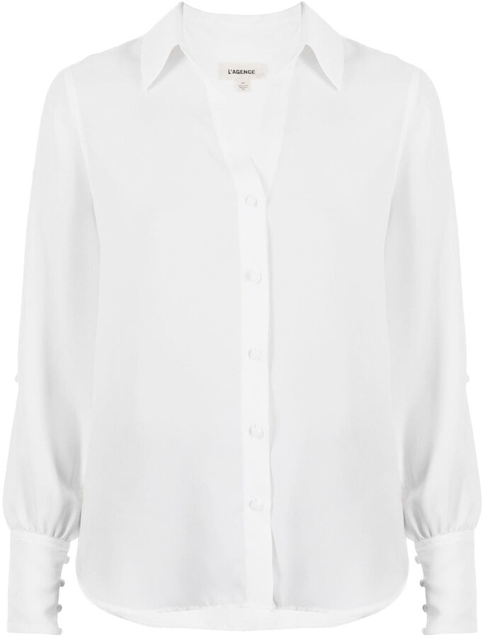 L'Agence Jordy slit-sleeve shirt