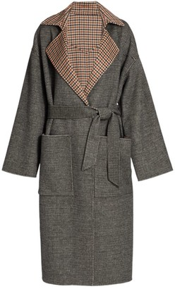 Nanushka Alamo Reversible Check Coat