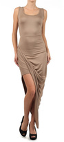 Taupe Wrap Maxi Dress