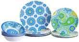 Certified International Boho Heavy Weight Melamine 12 Piece Dinnerware Set, Service for 4
