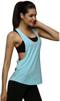 Perman Women Summer Sleeveless Loose Gym Sport Top Tank Vest