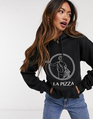 Skinnydip Skinny Dip pizza hoodie in black
