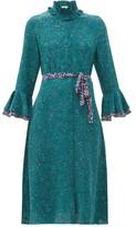 Beulah - Maia Floral-print Silk Crepe De Chine Dress - Womens - Green Multi