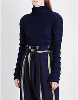 Issey Miyake High neck pleated top