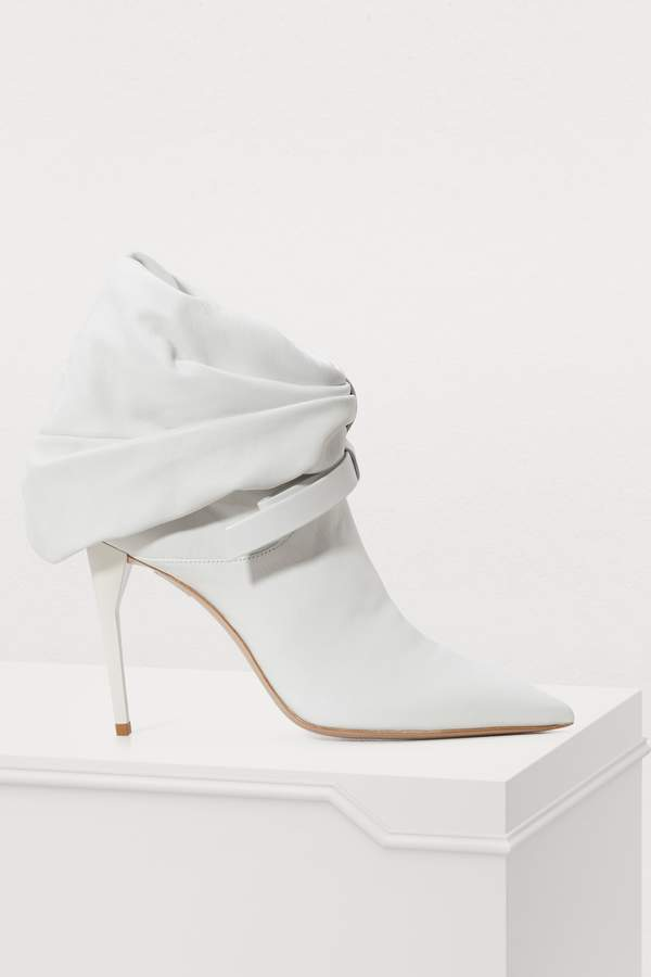 Miu Miu Cuffed leather ankle boots