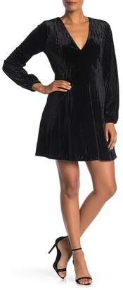 19 Cooper V-neck Long Sleeve Velour Dress
