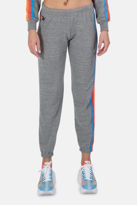 Aviator Nation Heather Grey/Neon Stripe 5 Stripe Sweatpant