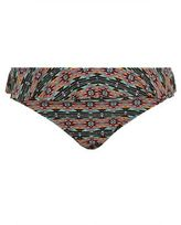New Look Plus Size Green Tribal Print Flounce Bikini Bottoms