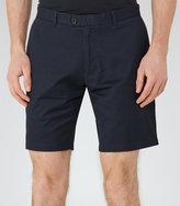 Reiss Reiss Wicker - Tailored Cotton Shorts In Blue