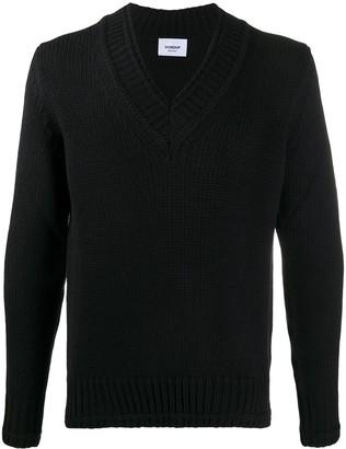 Dondup ribbed V-neck jumper