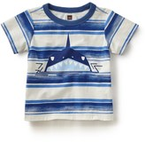 Tea Collection Shark Stripe Graphic T-Shirt (Baby Boys)