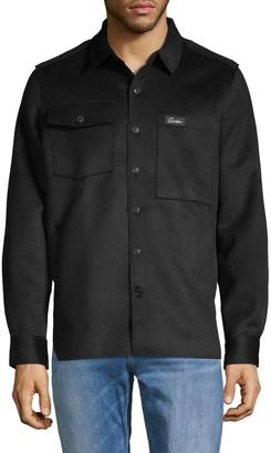 Ovadia & Sons Spread Collar Wool-Blend Overshirt