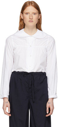 Comme des Garcons White Peter Pan Collar Shirt