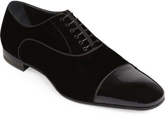 Paul Stuart Men's Hades II Cap-Toe Patent Leather Shoes