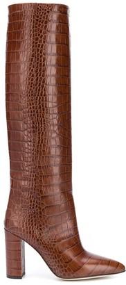 Paris Texas Moc Croco high boots